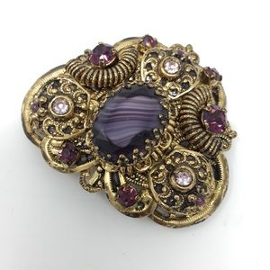 Antique Vintage Art Deco Purple Pin